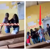 Lecturer Begs Angry Female Student To Release His Shirt