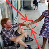Stop Racism, See What A Little Black Girl Did To A White Man Who Was Begging On The Street