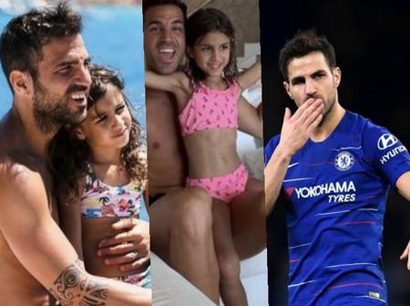 Former Chelsea midfielder Cesc Fabregas celebrates his daughter's birthday