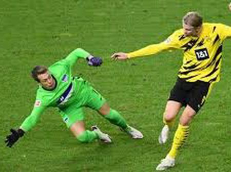 Haaland: The Striker Who Cannot Stop Scoring For Dortmund As He Scored Four Against Hertha