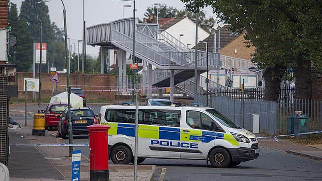 Murder investigation is launched after man in his 40s was stabbed to death outside a railway station in south-east London