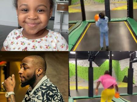 Davido and his daughter were spotted playing together in America