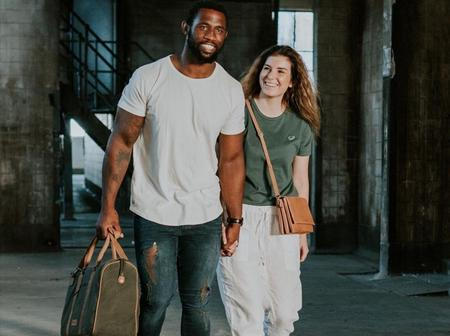 Siya Kolisi and his wife left fans in a frenzy after posting a picture looking stylish.