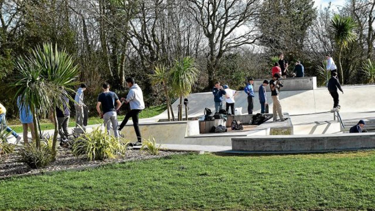 Ergué-Gabéric - Les jeunes fréquentent le skate-park de Croas-Spern