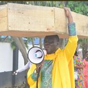 Reactions As Lagos Pastor Carries Coffin, Says God Is Not Happy With Nigerian Government