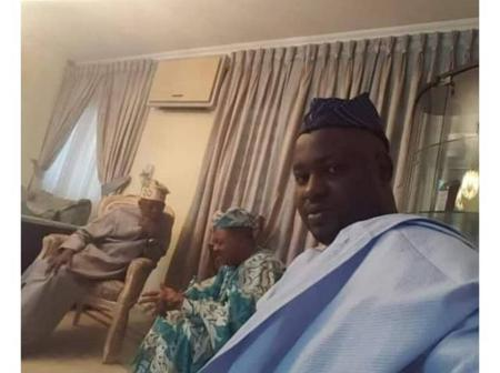 2023: Reactions as First Class Monarch, Son Visit Asiwaju Bola Tinubu in Bourdillon