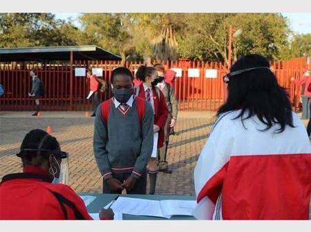 As Grade 7 learners return to school on Tuesday. The DBE is urging communities to protect schools