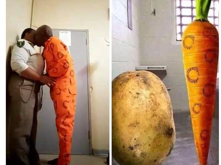 Try not to laugh: People at it again mocking the prison warder and an inmate, See photos