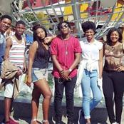 See Family photo of Omotola Jalade Ekeinde, Her husband & Their Children