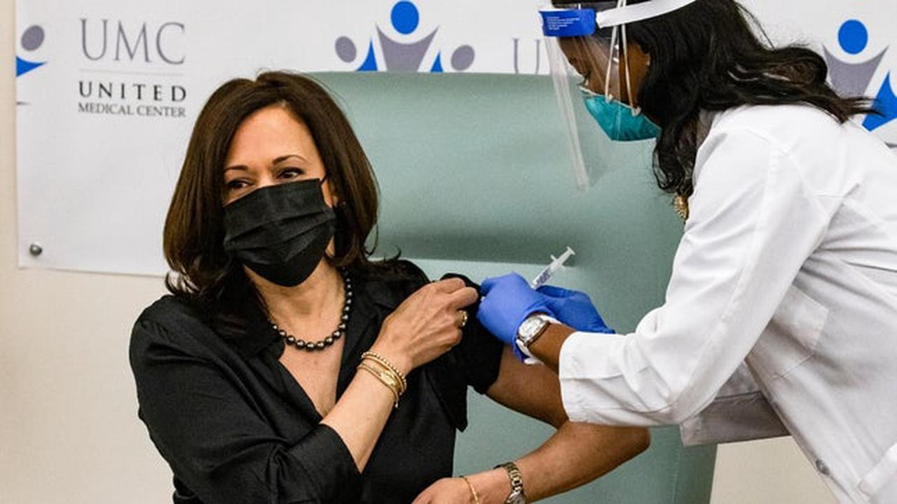 Harris receives coronavirus vaccine on camera, urges Americans to get vaccinated