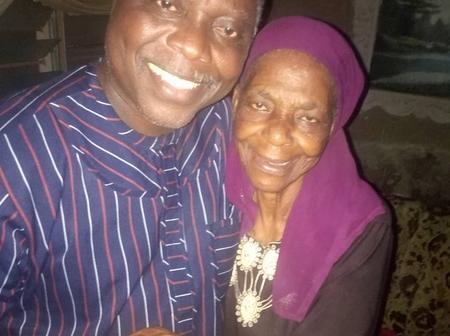 Reactions As Actor, Dele Odule, Visits Veteran Actress, Iya Osogbo
