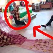 Mixed-Reactions As Nigerian Couple Do Their Church Wedding In Igbo Traditional Attire [Photos]