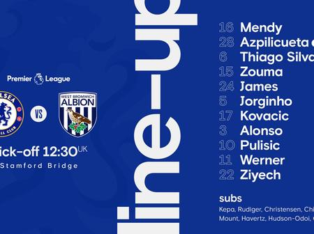 Chelsea starting line up to face Westbrom
