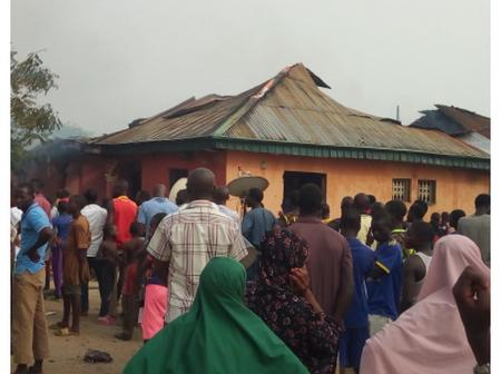 House, Property Burnt Down In Nasarawa Town, See Photos.