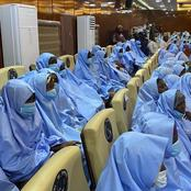 A Few Hours After The Kidnapped School Girls Arrived Zamfara Gov House, See What Was Noticed