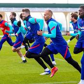 Photos of Barcelona players training ahead of their Copa Del Rey final.