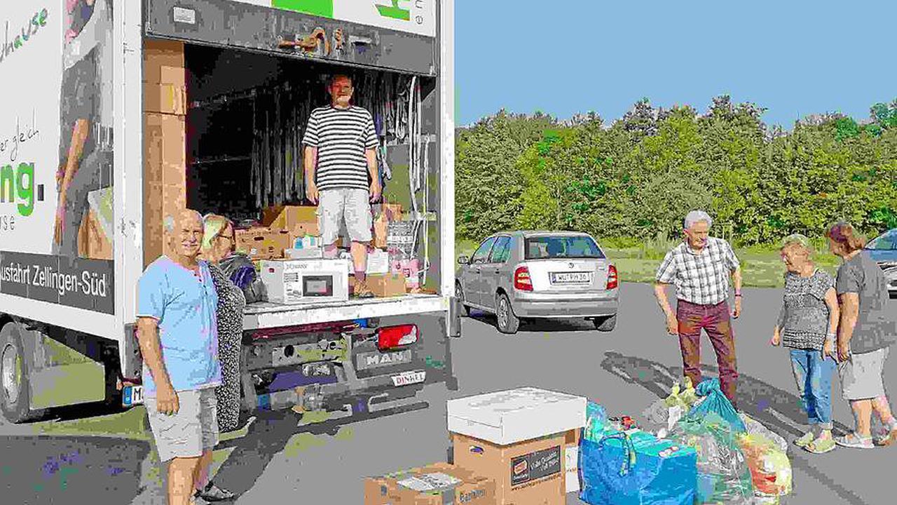 Hilfslieferung aus Retzbach ins Katastrophengebiet Ahr
