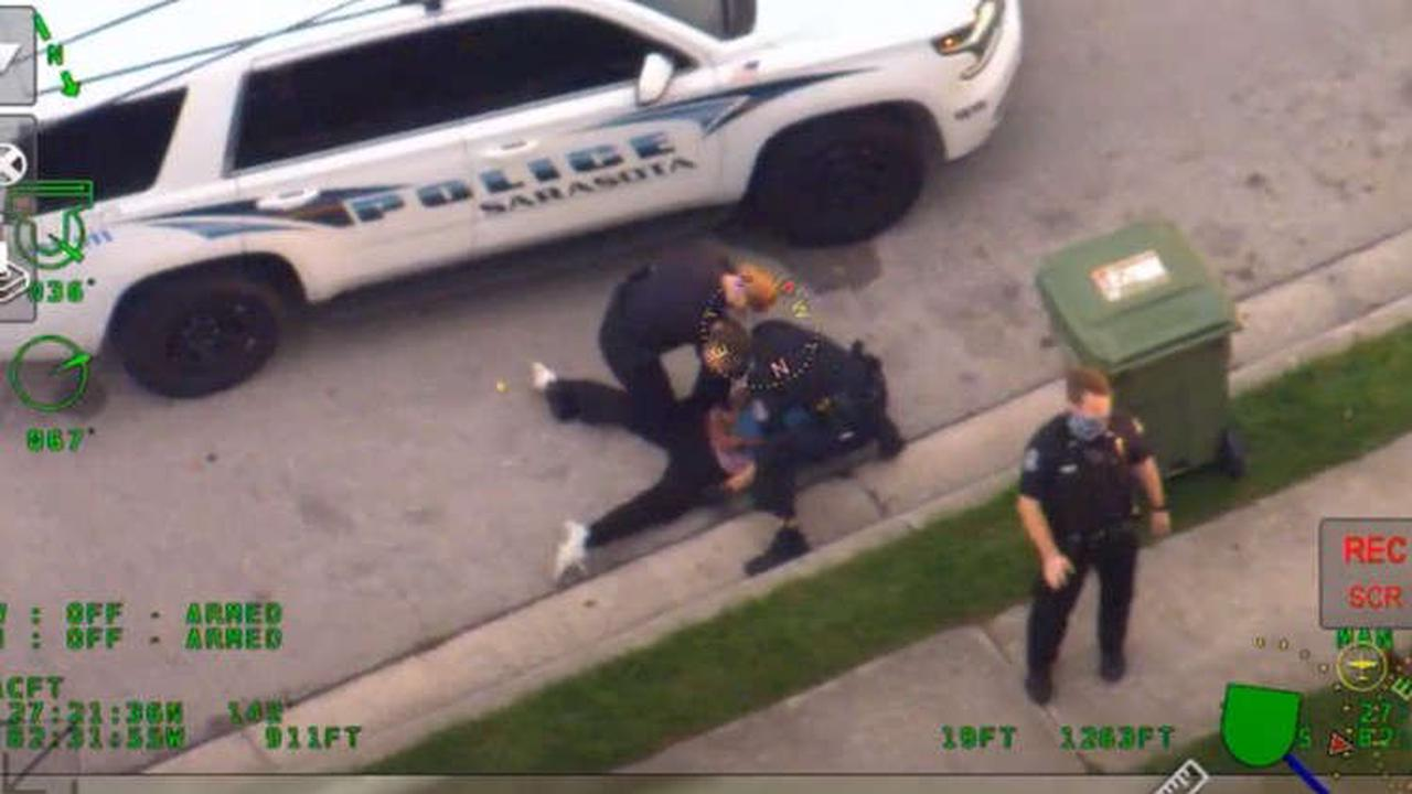 Internal investigation determines Sarasota officer who pressed knee on man's neck, back did not use excessive force
