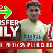 FRIDAY EVENING TRANSFER NEWS: Partey & Torreira Swap Deal, Aouar, Adebayor's Return To EPL, Sancho