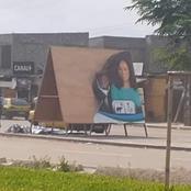 Législatives : une affiche de la candidate Oeugnin a été partiellement déchirée par des individus