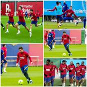Just A Day To Their Match Against Real Madrid, See Messi, Coutinho, And Other Players In Training.