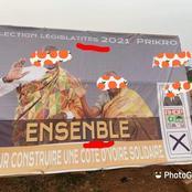 Législatives à Prikro: une erreur très frappantes sur la pancarte d'un candidat RHDP