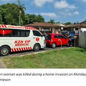 Woman Was Fatally Stabbed in The Neck During A Home Invasion In Pinetown, KwaZulu-Natal.