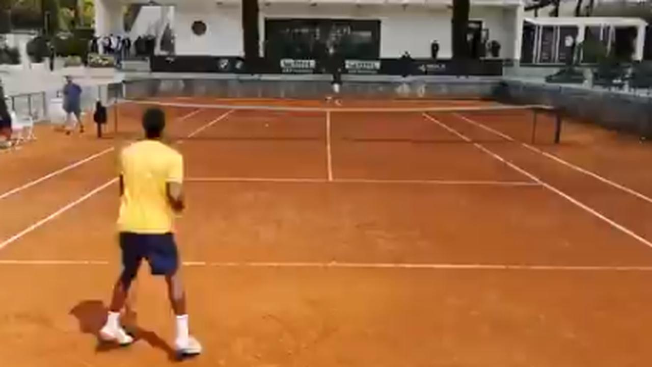 ATP -Rome - Gaël Monfils a tapé tranquillement sur les courts romains