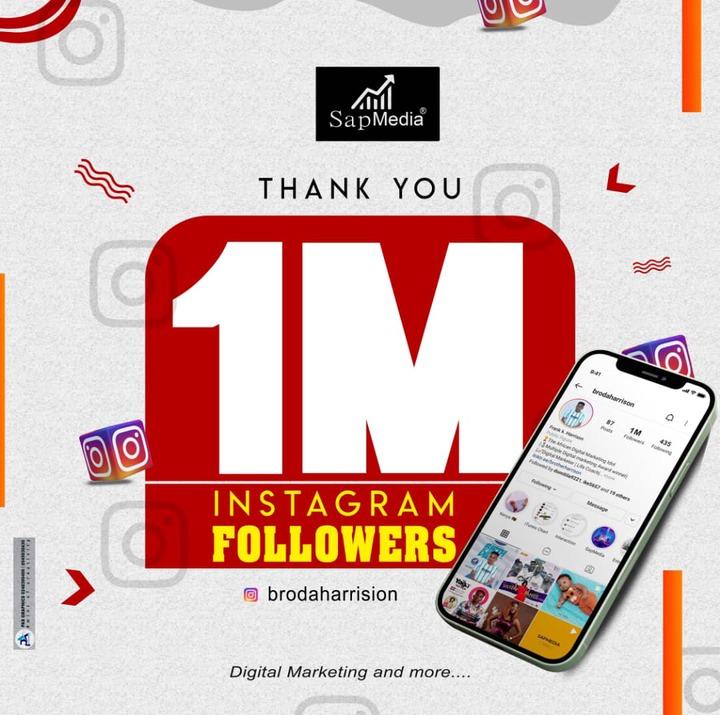 Frank K. Harrison Hits 1million Followers On Instagram