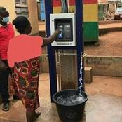 Water ATM that enables you to swipe machine and it withdraws water