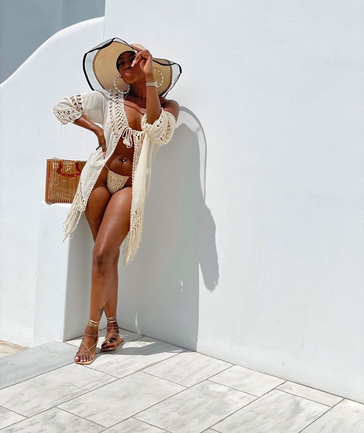 Actress Dorcas Fapson flaunts her body in series of sultry photos as she vacations in Mykonos