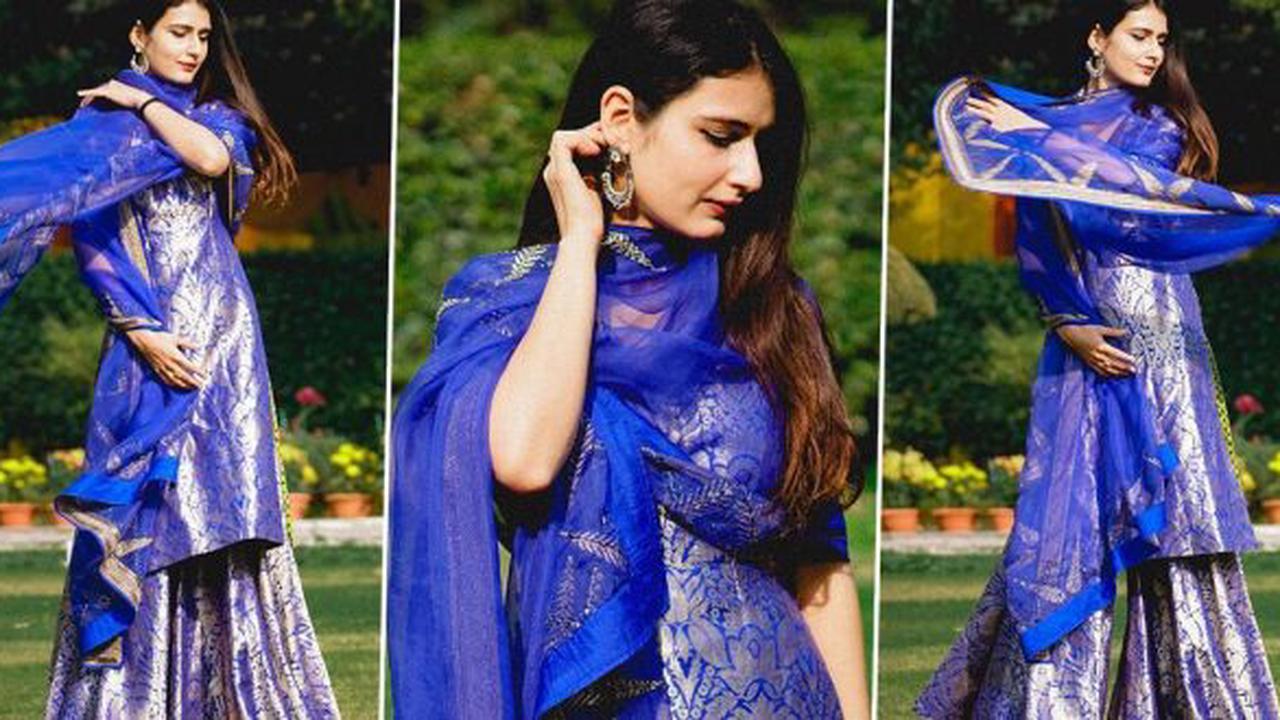 Fatima Sana Shaikh's Raw Mango Ensemble Is a Must Try Festive Colour to Flaunt for the Wedding Season!