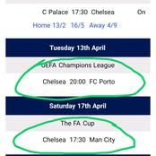 Chelsea Football Club Remaining Fixtures 2020/21 Season