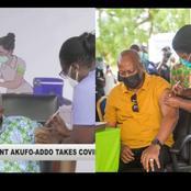 Vaccine is safe!. Akufo Addo and JM public jab kills all propaganda against the vaccine.
