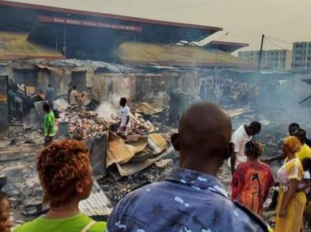 Abidjan : un feu ravage le Black market de Port Bouët, le bilan est lourd
