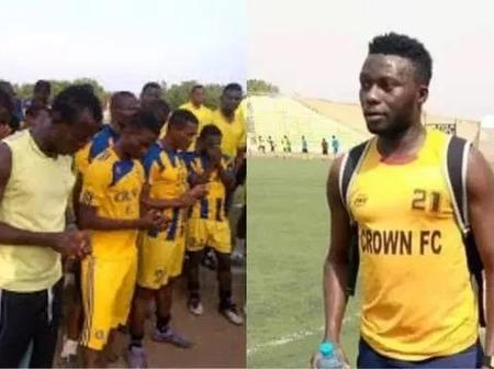 Fans React As Nigerian Striker Slumps And Dies While Training