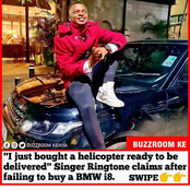 Ringtone Defends Himself Claiming He Has Bought A Helicopter After Failing To Buy BMW i8 He Claimed.