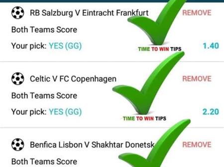 Make Good Cash Tonight From a Stake of Ksh 200 From These Sure Tips