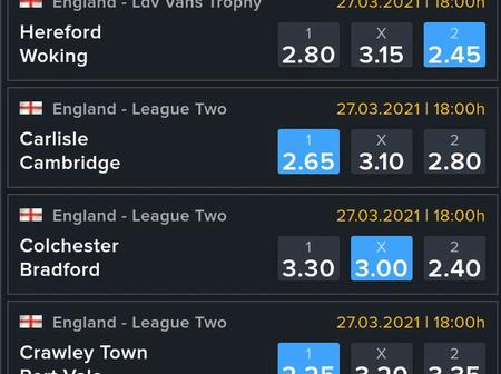Seven Correct Score(CS), Over 2.5 And Huge Odds To Bank On This Weekend.
