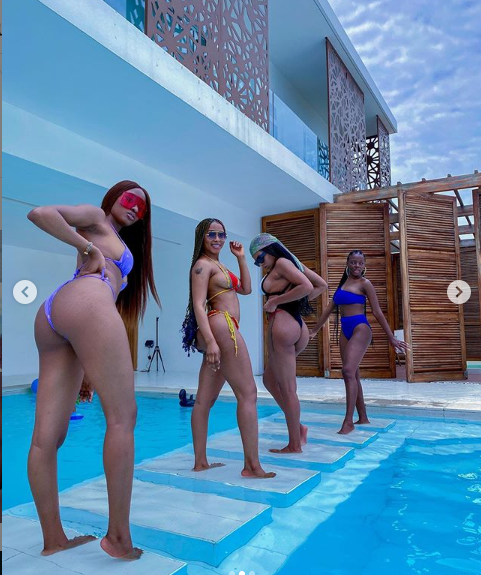 Mercy Eke, Kim Oprah, Venita, and Diane flaunt their bikini bodies in sexy new photos?
