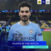 After Man City beat Dortmund 2-1, 2nd leg clash, see the player that won man of the match award