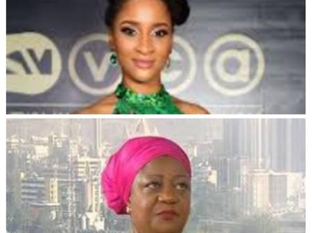 Hours after Lauretta Onochie posted a picture of children with mask, checkout Adesua Etomi's reply