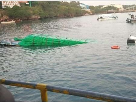 Another Accident at Likoni Channel As Trailer Plunges Into The Indian Ocean
