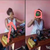 See What This Lady Was Caught Doing While Sewing That Got People Talking