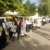 Shi'ites Held Mega Protest In Katsina, Listen To What The Ladies Among Them Were Saying (VIDEO)