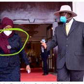 Tanzania President Samia Suluhu Has Been Spotted Wearing Mask In Uganda