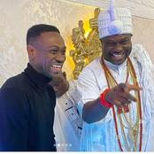 Check Out Cute Pictures of Ooni of Ife With Actor Lateef Adedimeji