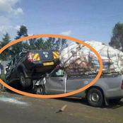 Deadly accident as Miraa pick-up truck speeding misses road and kills 2, injures 5 in market