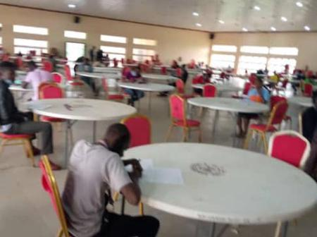 Alleged photos of seating arrangements for FUTA student during exam