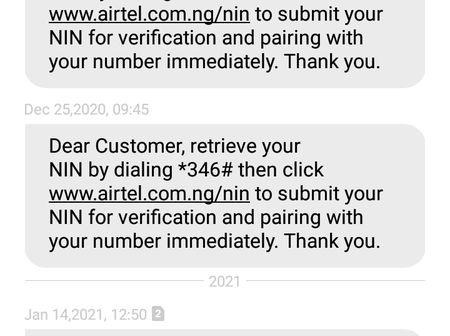 Is Airtel blocking subscribers? Read the text message I got this afternoon